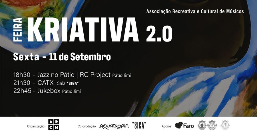 Feira Kriativa | programação *SIGA* - RC Project, CATX, Jukebox