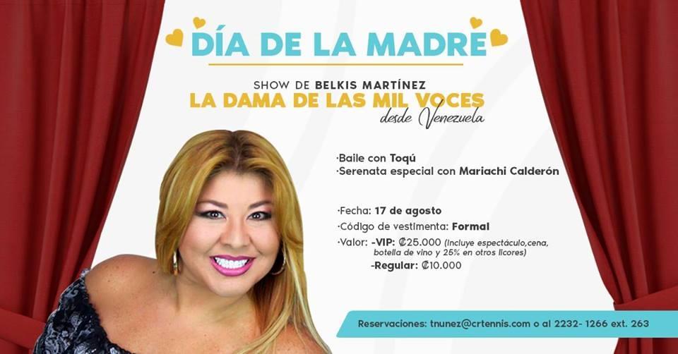 Actividad Día de la Madre. Show con Belkis Martínez