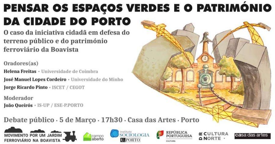 Debate Pensar os espaços verdes e o património da cidade do Porto