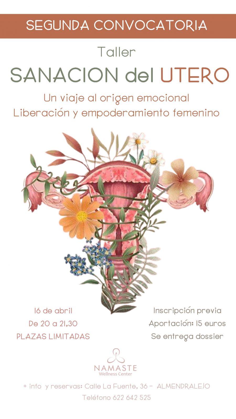TALLER DE SANACIÓN DEL ÚTERO - SEGUNDA CONVOCATORIA