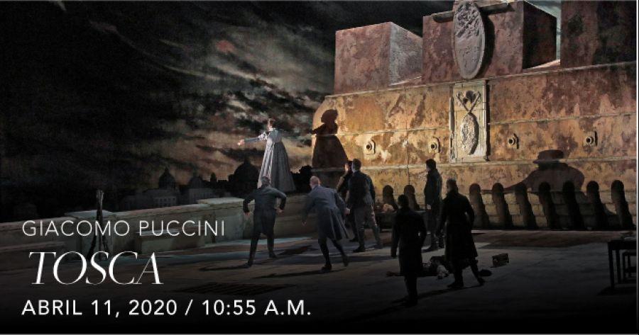 Tosca, Giacomo Puccini. Opera. Transmisión en vivo