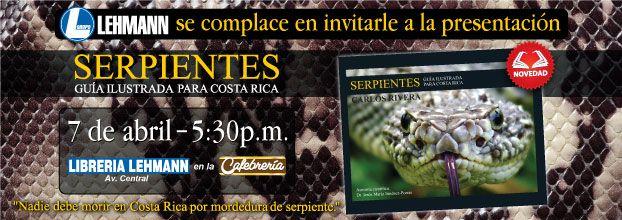 Presentación de libro. Serpientes