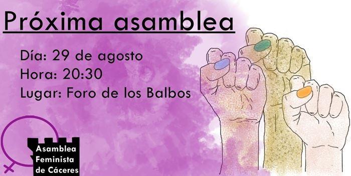 Asamblea Feminista en Foro de los Balbos