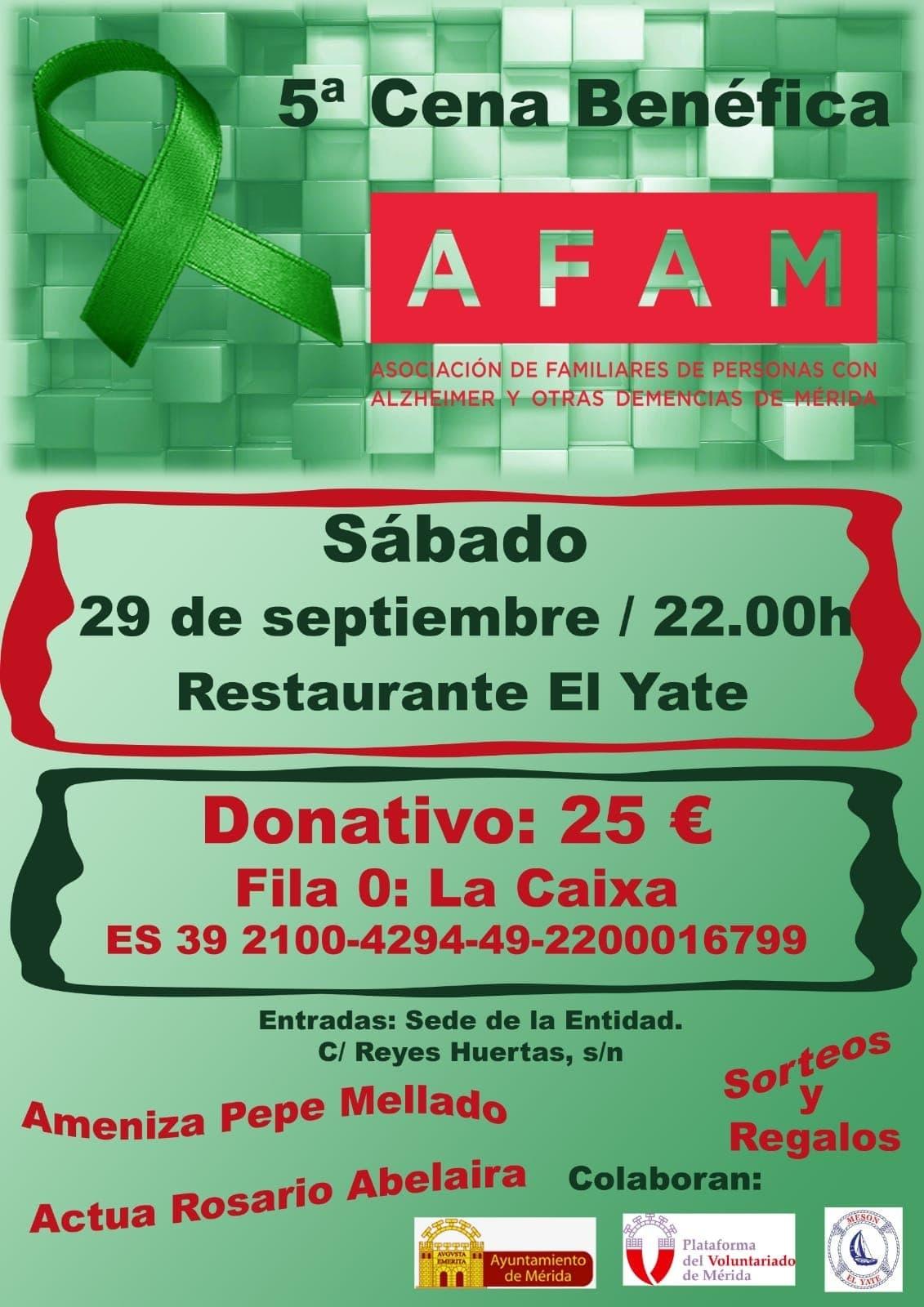 5ª Cena Benéfica en favor de AFAM