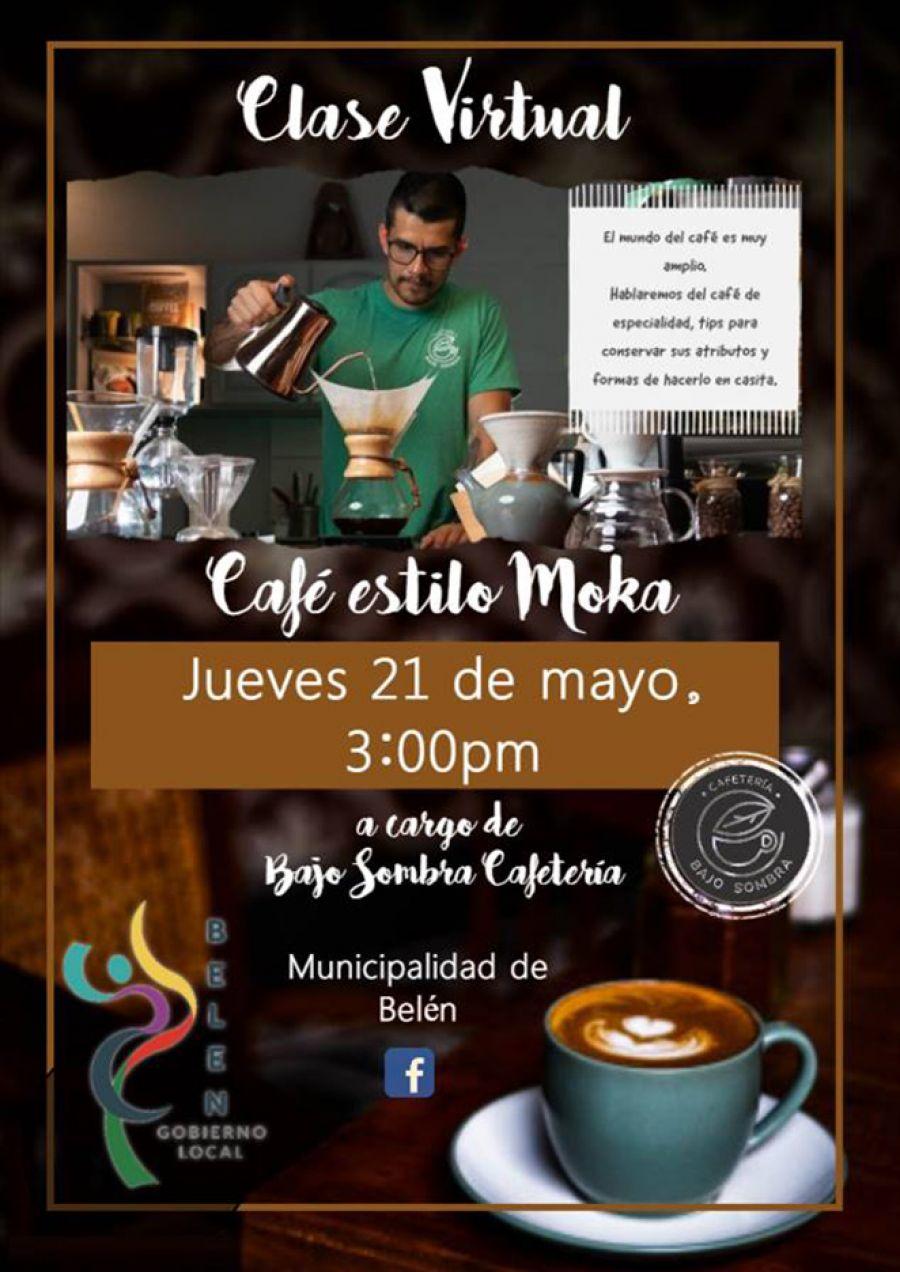 Café estilo Moka. Bajo Sombra Cafetería