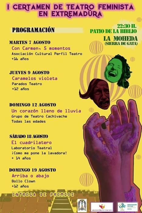 "1º CERTAMEN DE TEATRO FEMINISTA ""Suceso Portales""    La Moheda"