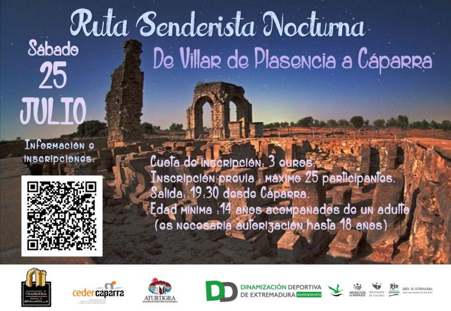 Ruta Nocturna Villar de Plasencia a Cáparra