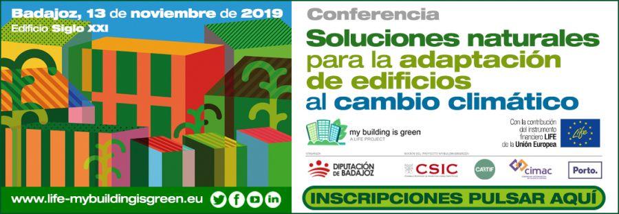 CONFERENCIA SOLUCIONES NATURALES PARA ADAPTACIÓN DE EDIFICIOS AL CAMBIO CLIMÁTICO