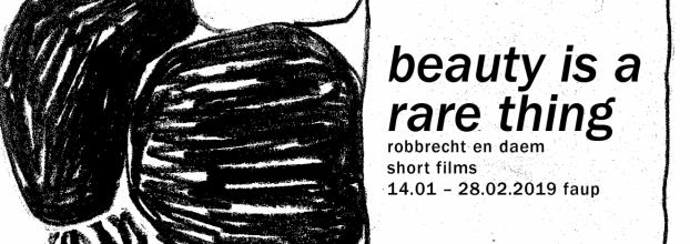 Beauty is a rare thing. Robbrecht en Daem: short films