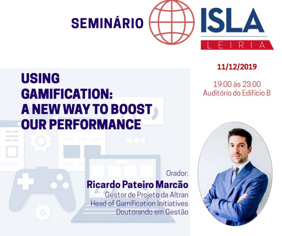 Seminário em Using Gamification:  A New Way To Boost Our Performance