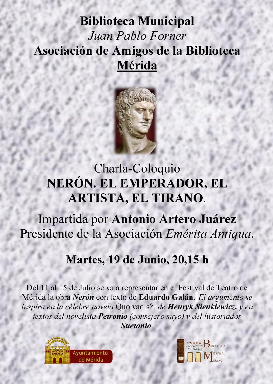 Charla-coloquio: 'Nerón, el emperador, el artista, el tirano'