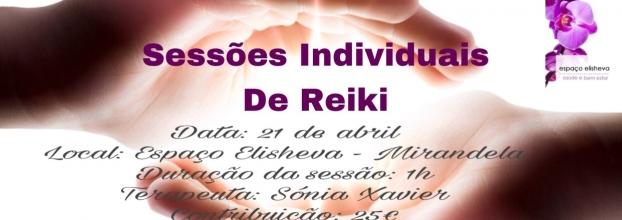 Sessões Individuais de Reiki