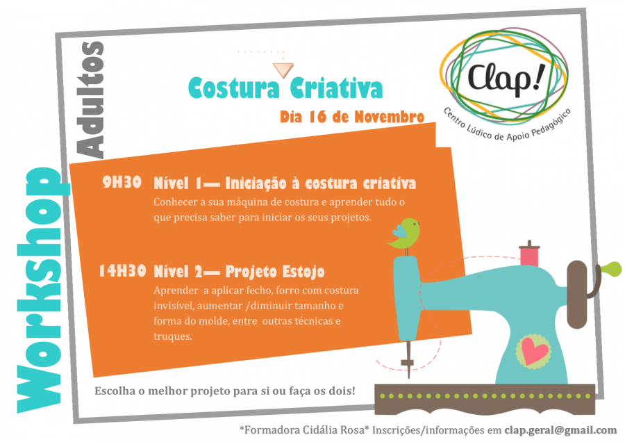 Workshop Costura Criativa