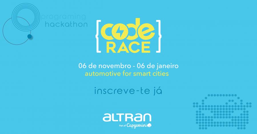 CODE RACE 2020 | Hackathon 100% online e gratuito da Altran Portugal