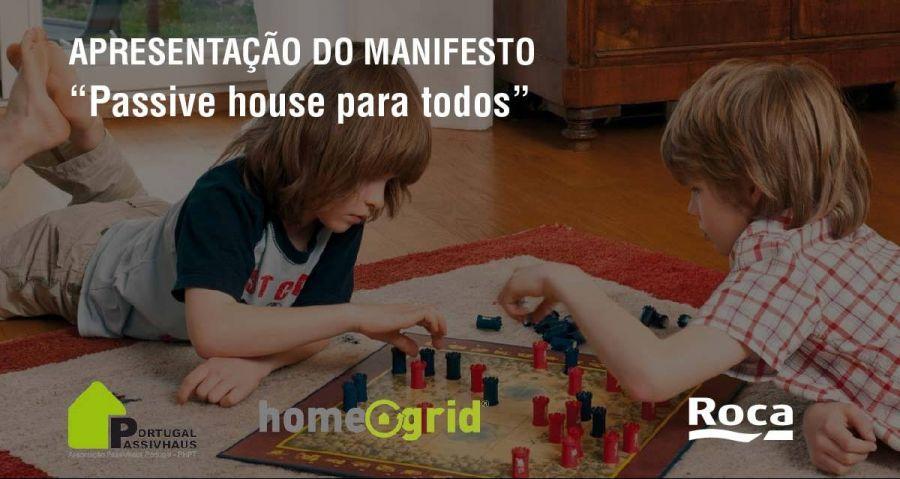 """Apresentação do manifesto """"Passive house para todos"""""""