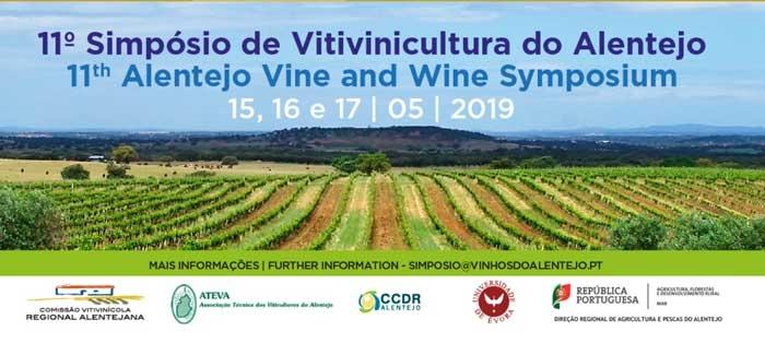 11º  Simpósio de Vitivinicultura do Alentejo. Évora (Portugal) 15 al 17 de mayo de 2019.