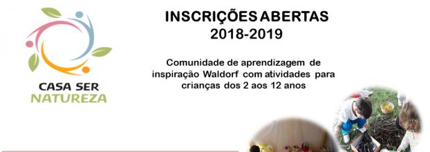 Inscrições Abertas - Ano Letivo - 2018/2019