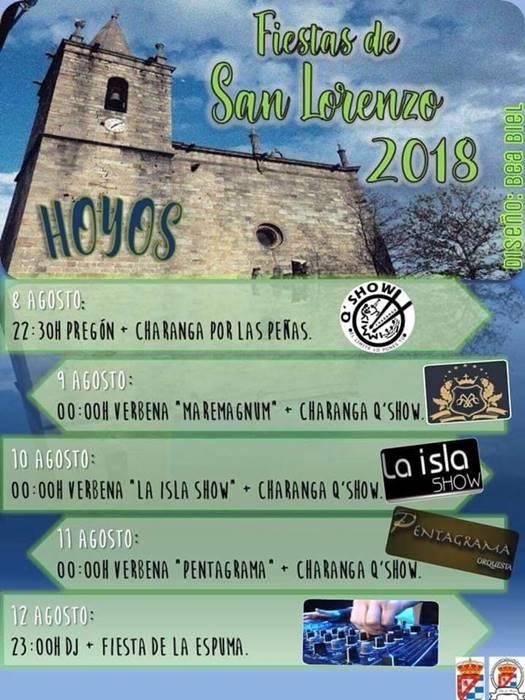Fiestas de 'San Lorenzo' 2018 || Hoyos
