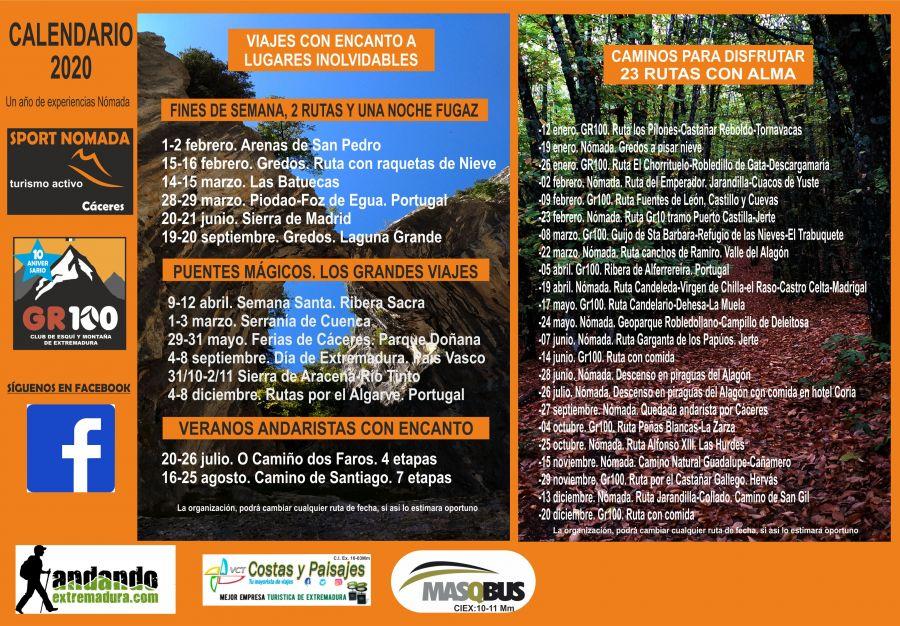 calendario 2020 turismo activo
