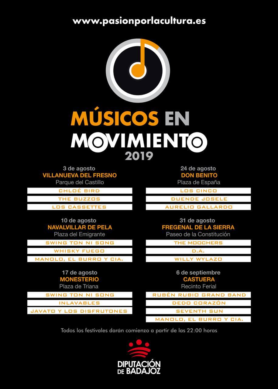 MÚSICOS EN MOVIMIENTO 2019 | Festival Itinerante