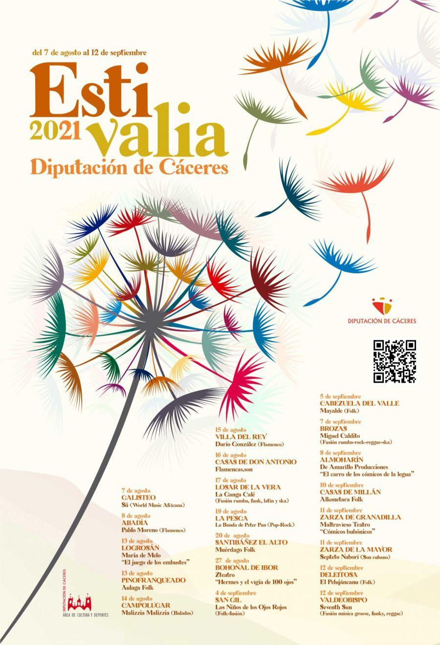 ESTIVALIA 2021 | Diputación de Cáceres