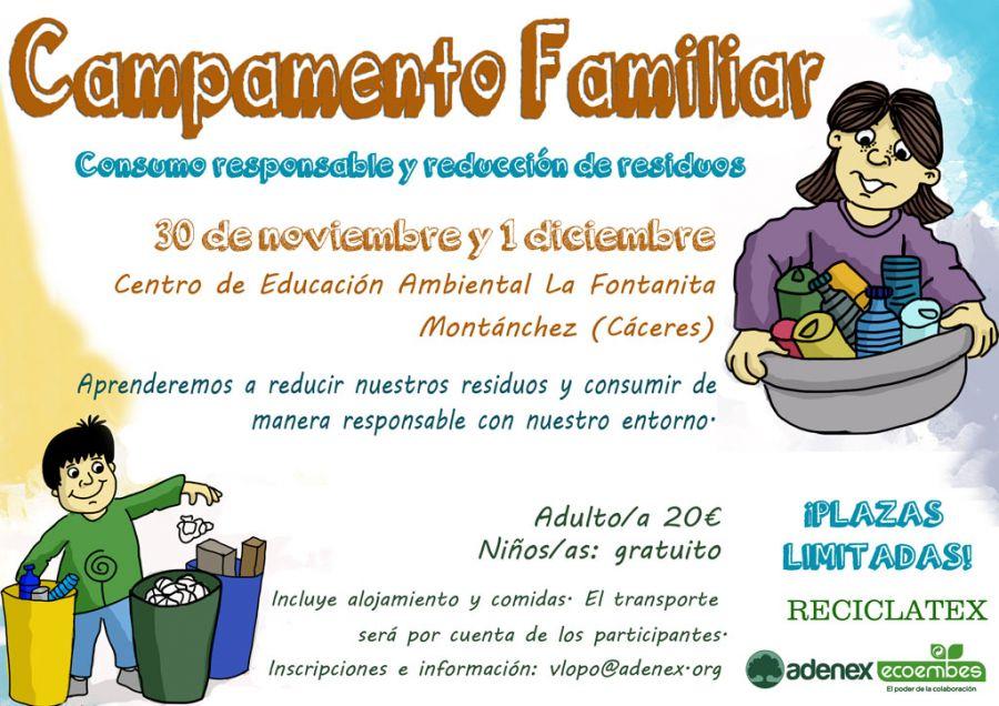Campamento Familiar Consumo Responsable y Reducción de Residuos