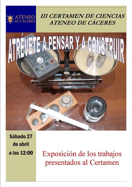III Certamen de Ciencias Ateneo de Cáceres