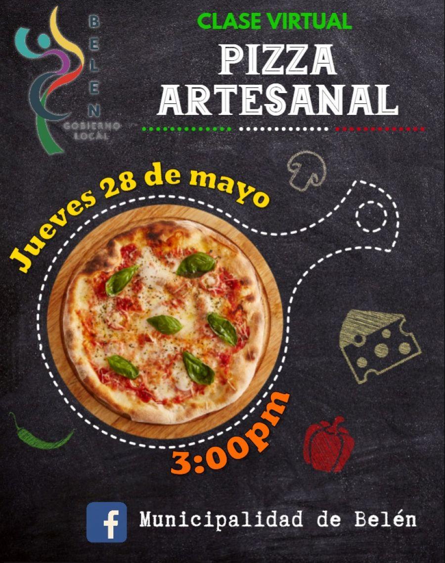 Pizza artesanal. Bajo Sombra Cafetería