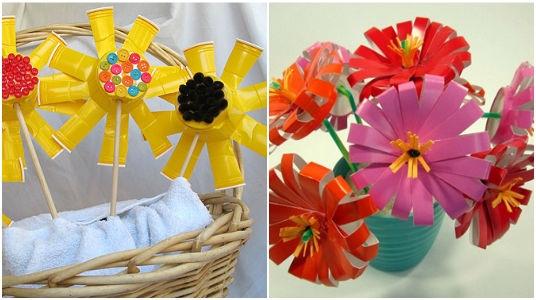 """Taller de reciclado """"Flores a partir de envases de plástico"""". CEREZO EN FLOR"""