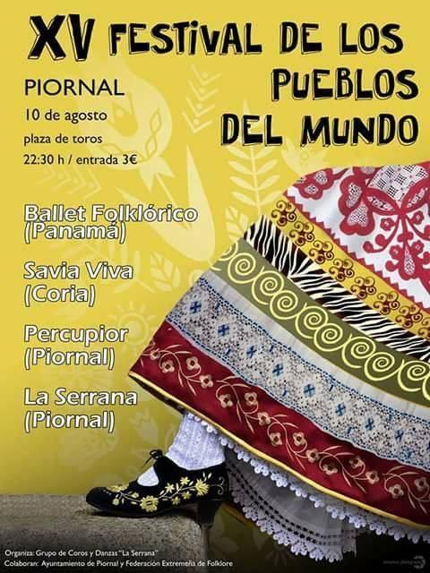 XV Festival Folklórico de los Pueblos de Mundo de Extremadura en PIORNAL