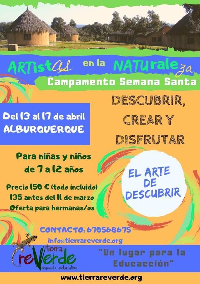 CAMPAMENTO ARTISTAS EN LA NATURALEZA. EL ARTE DE DESCUBRIR