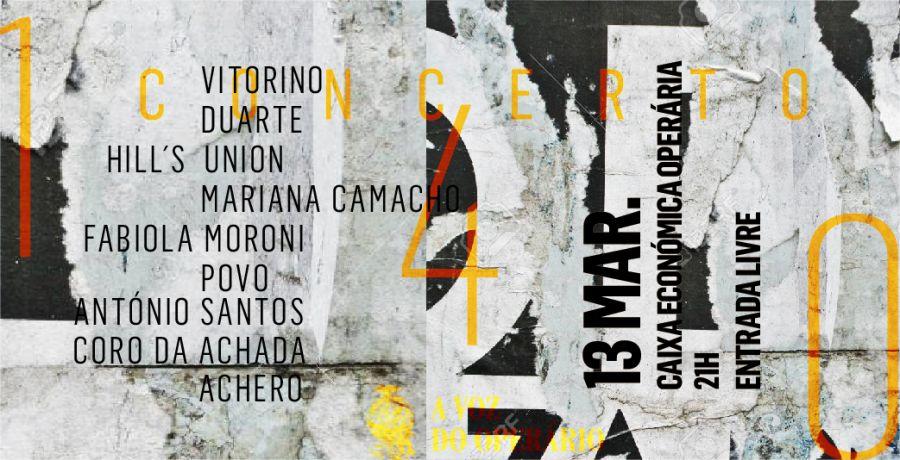 Concerto de aniversário do Jornal A Voz do Operário