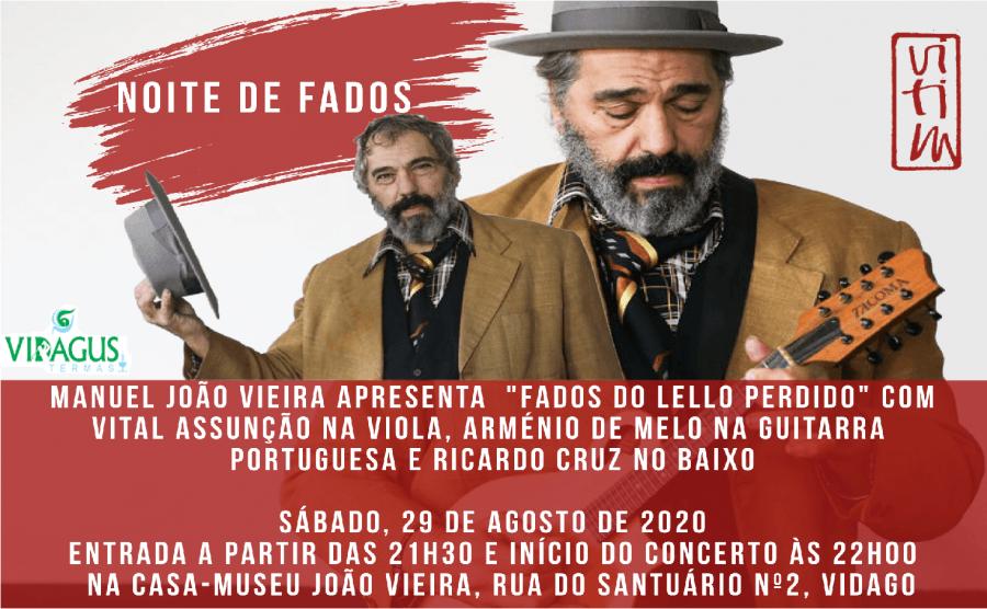 Casa-Museu João Vieira apresenta 'Noite de Fados com Lello Perdido'