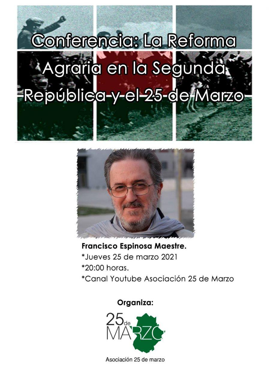 Conferencia 'La Reforma Agraria en la Segunda República y el 25 de marzo'