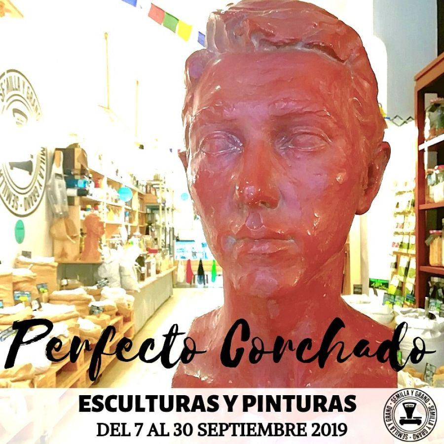 Perfecto Corchado Palacios Exposición esculuras y pinturas.