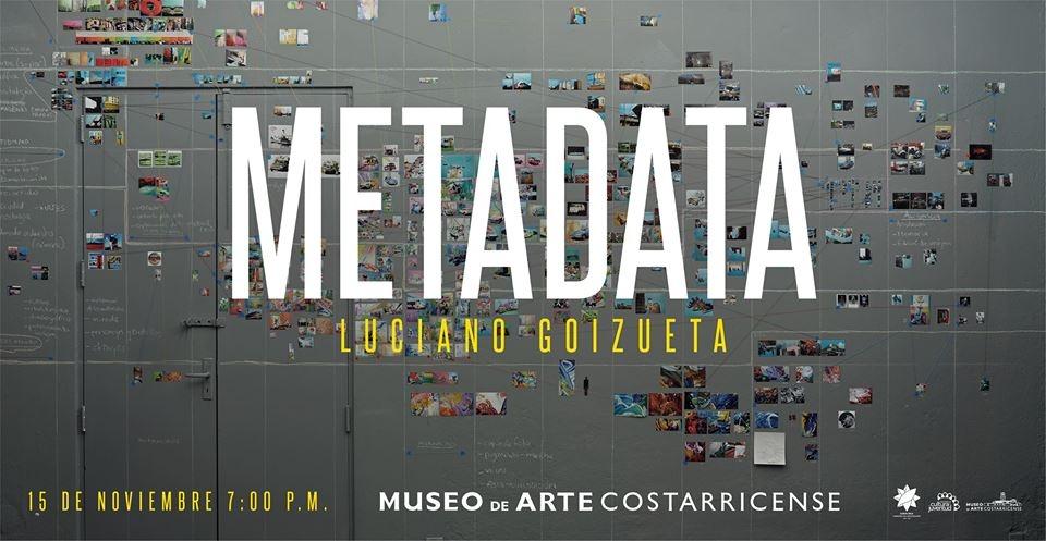 Inauguración. Metadata. Luciano Goizueta. Acrílico, dibujo e intervención