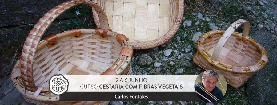 Curso de cestaria com fibras vegetais com Carlos Fontales