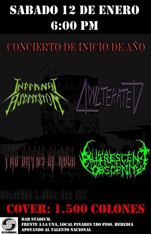 Concierto de inicio de año. Varias bandas. Thrash, death-metal