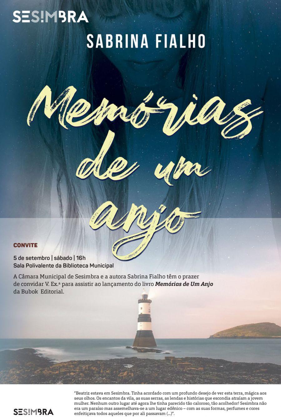 Convite para o lançamento do livro Memórias de Um Anjo