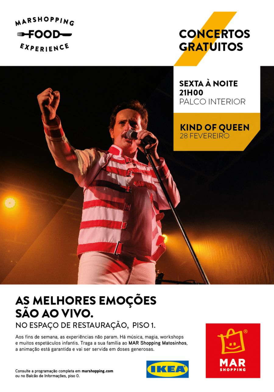 'Kind of Queen' - Um tributo a Freddie Mercury e aos Queen no palco do MAR Shopping Matosinhos