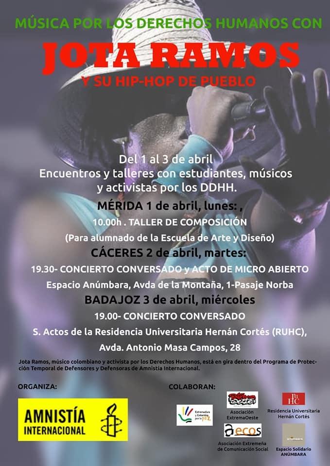 Música por los DDHH con Jota Ramos (Cáceres)
