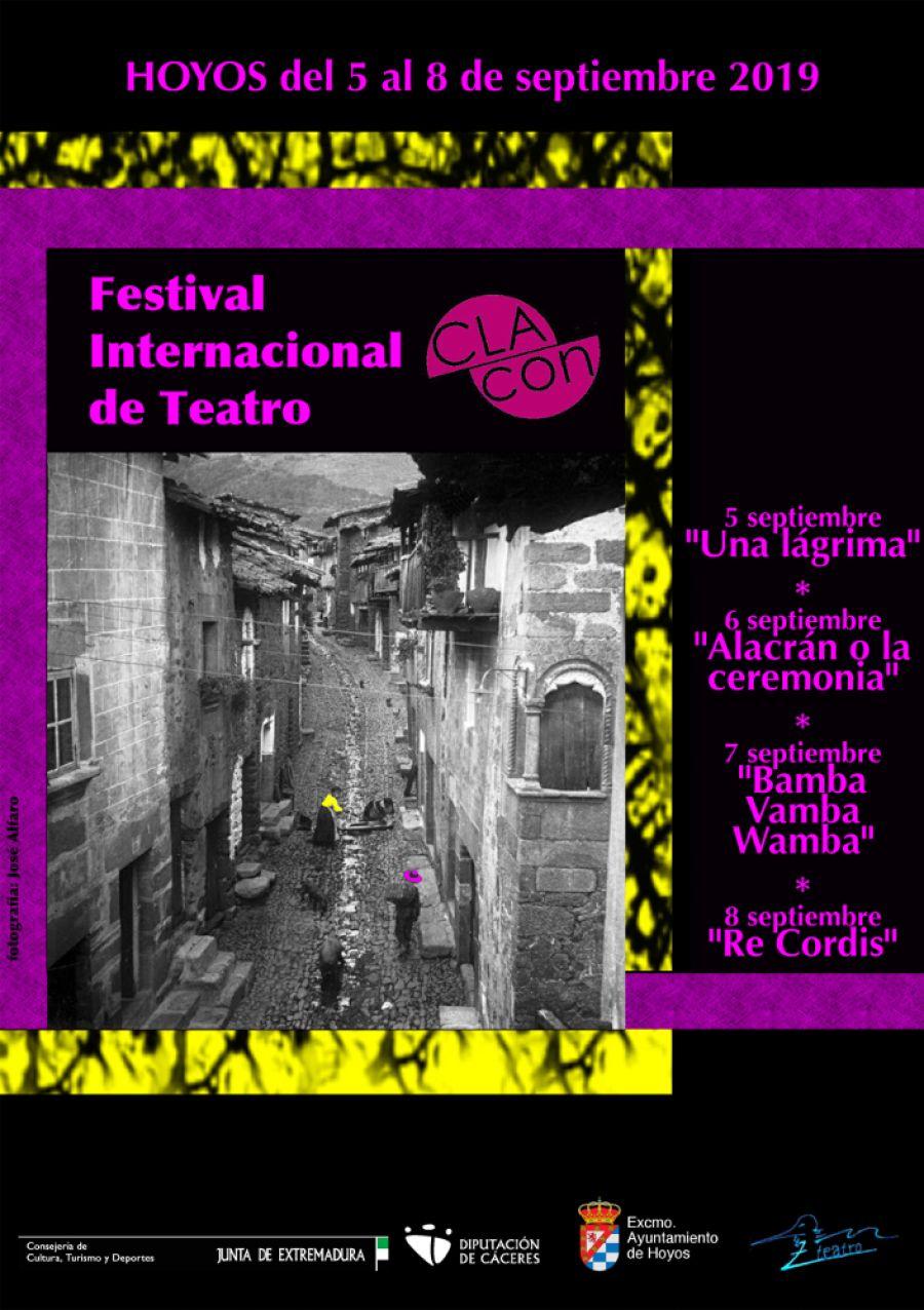 Festival Internacional de teatro de Hoyos CLACÓN 2019