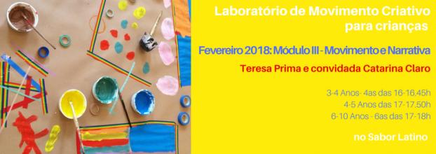 Lab. Movimento Criativo: Módulo III - Movimento e Desenho