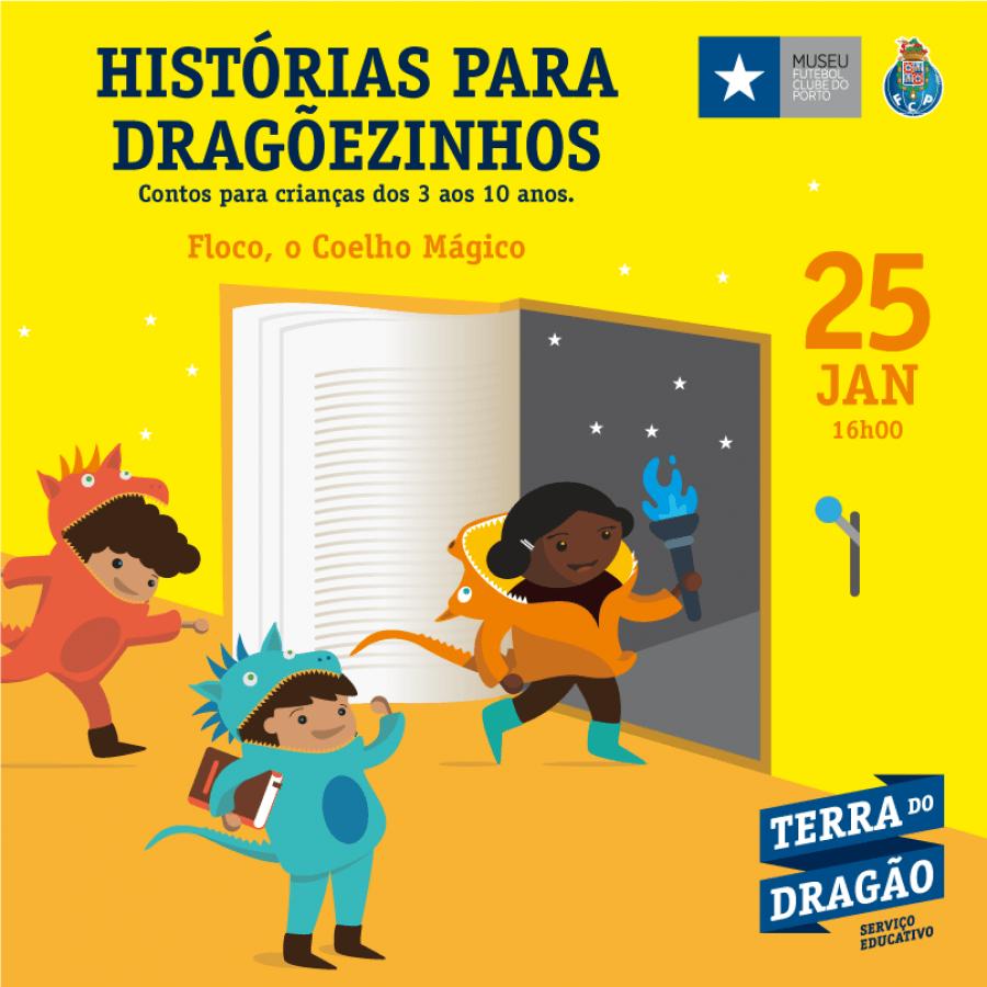 """Histórias para Dragõezinhos – """"Floco, o Coelho Mágico"""""""