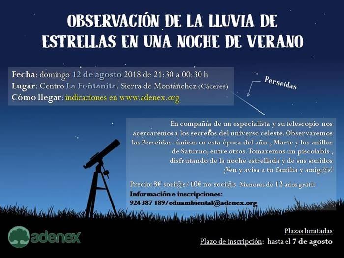 Observación Celeste con Gabino Muriel en La Fontanita