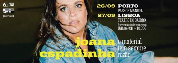 Joana Espadinha no Porto | Concerto de apresentação do novo disco 'O material tem sempre razão'