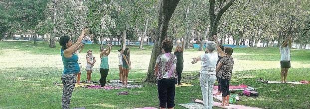 Yoga no jardim da zona verde ,entroncamento