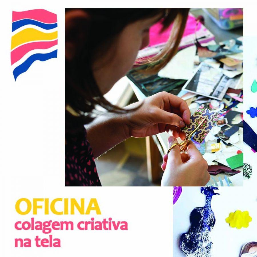Oficina de Colagem Criativa em Tela