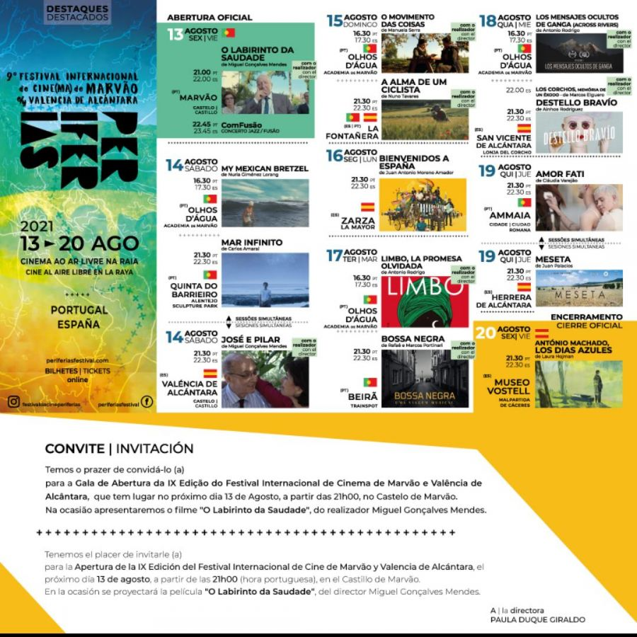 Festival Internacional de Cine de Marvão y Valencia de Alcántara 'Periferias'