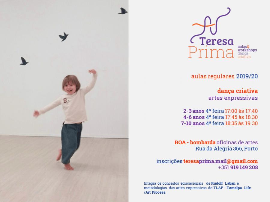 Dança criativa para crianças